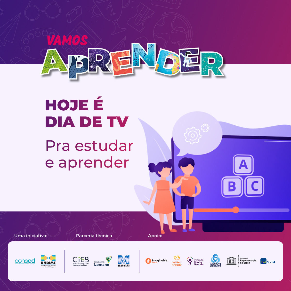 Programas educativos via televisão, plataforma e aplicativo estão disponíveis para adesão gratuita das redes municipais de educação