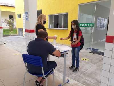 Retorno presencial das aulas na Escola Municipal Antônio José da Rocha